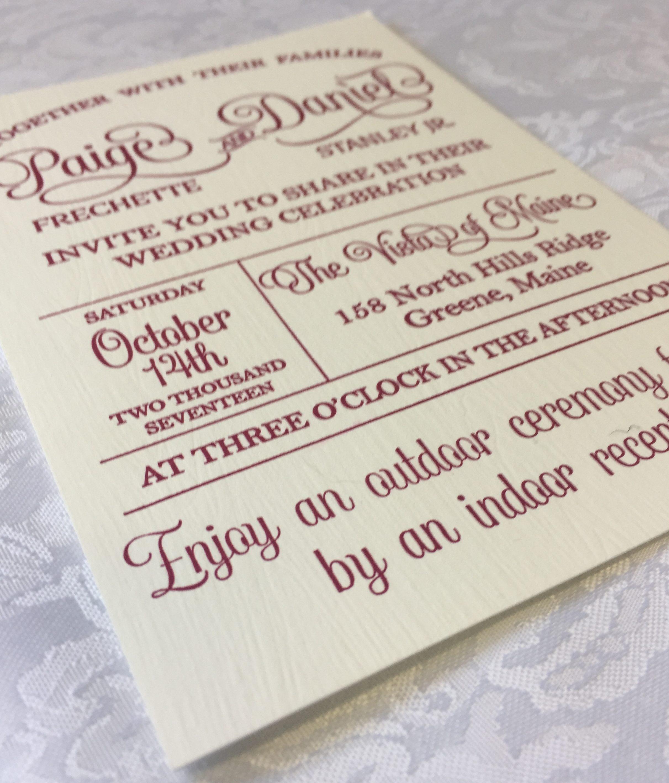 invitations elazar letterpress
