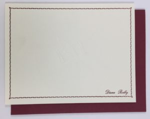 personal note cards 1 elazar letterpress